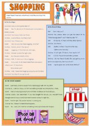 English Worksheet: Shopping