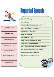 Reported Speech (Special Verbs)