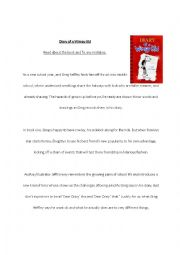 English Worksheet: Diary of a Wimpy Kid Editing Task