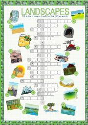Landscapes Crossword Puzzle