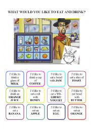 English Worksheet: What would you like to eat and drink