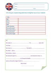 English Worksheet: Introducing yourself