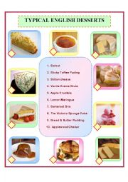 Typical English Desserts