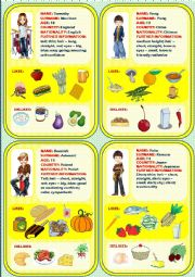 English Worksheet: Food - speaking cards2 (2 out of 4)