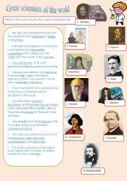 Great Scientist worksheet