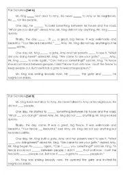 English Worksheet: Pair dictation worksheet