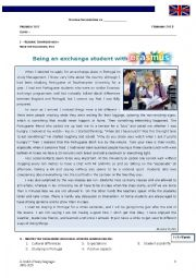 English Worksheet: Erasmus Exchange