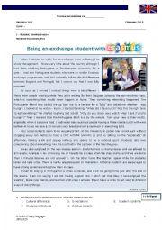 English Worksheet: Erasmus Exchange