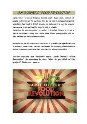English Worksheet: Jamie Oliver�s Food Revolution