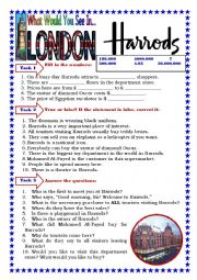 English Worksheet: Harrods