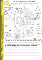 English Worksheet: My Dream - Describe the picture