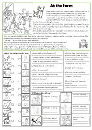English Worksheet: At the farm