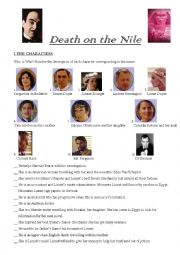English Worksheet: Death on the Nile - Agatha Christie