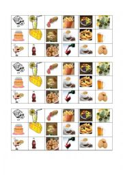 English Worksheet: food & mood cards for my some/any boardgame