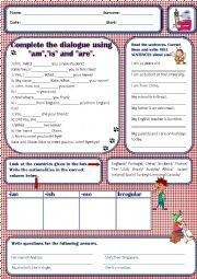 English Worksheet: 5th grade revisions