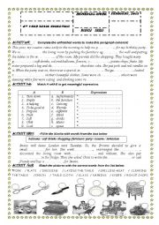 English Worksheet:  8 TH YEAR REVIEW PAPER / MODULE 3