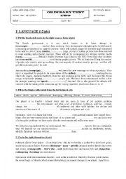 English Worksheet: mid term test 2 9thform pioneer school