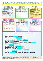 English Worksheet: STILL-YET-ALREADY-EVER-AGO