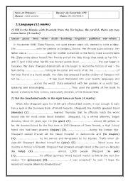 English Worksheet: 1st form secondary education