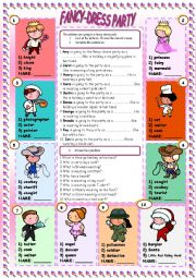 English Worksheet: Fancy-dress Party