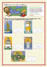 English Worksheet: 7 Wonders of the Ancient World (1)