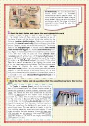 English Worksheet: 7 Wonders of the Ancient World (3)