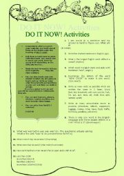 do it now activities riddles language questions. Black Bedroom Furniture Sets. Home Design Ideas
