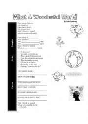 English Worksheet: What A Wonderful World [Louis Amstrong] - Song