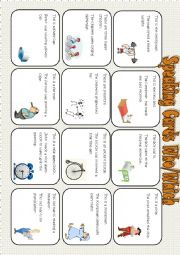English Worksheet: speaking cards (who/which)