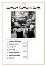 English Worksheet: Let�s be Detectives - Sherlock Holmes�s Study