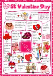 English Worksheet: St Valentine´s Day - board game