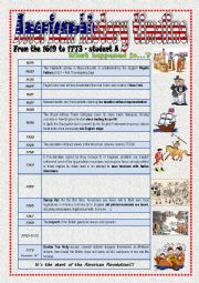 English Worksheet: American History timeline