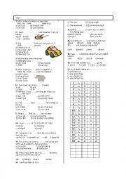 English worksheet: 8TH GRADE 2ND TEST 2ND TERM