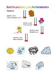English Worksheet: Weather poem