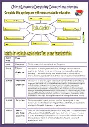 English Worksheet: Unit 2,Lesson 5:Comparing Educational Systems