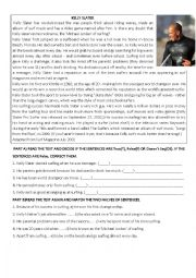 English Worksheet: present perfect present continuous reading