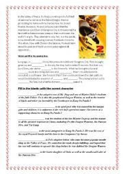 Kung Fu Panda 2 [Movie Activity Worksheet] [A2 to B1]