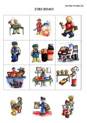 English Worksheet: I am a (police officer) Bingo game