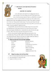 English Worksheet: History of Camping