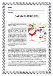 English Worksheet: CARNIVAL IN BRAZIL