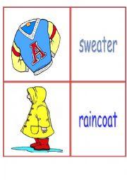 English Worksheet: Winter clothes - flashcards
