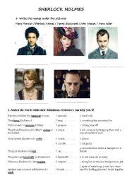 English Worksheet: Sherlock Holmes Movie