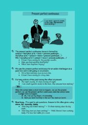 English Worksheet: Present Perfect Continuous.