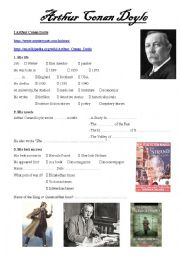 English Worksheet: Arthur Conan Doyle webquest