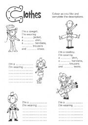 English Worksheet: Cowboys and cowgirls
