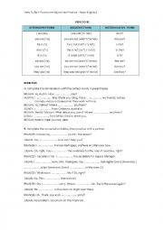 Verb To Be + Possessive Adjectives Practice – Basic English 1