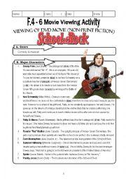 School of Rock movie worksheet