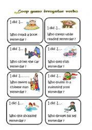 English Worksheet: loop game (irregular verbs)