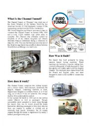 English worksheet: The Channel Tunnel