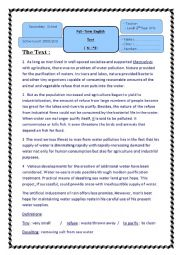 English Worksheet: Full Term Test N�3